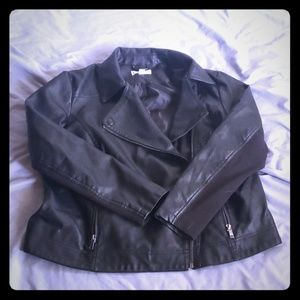 Leather Like Moto Jacket